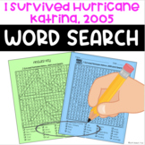 I Survived Hurricane Katrina, 2005 Word Search