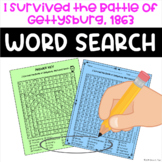 I Survived the Battle of Gettysburg, 1863 Word Search