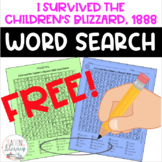 I Survived the Children's Blizzard, 1888 Word Search