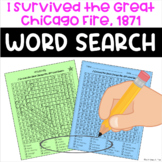 I Survived the Great Chicago Fire, 1871 Word Search