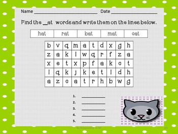 Word Search JUMBO Pack for Short Vowel CVC Words