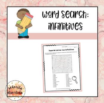 Word Search: Los Infinitivos