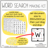 Word Search Making Kit by Bunny On A Cloud