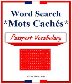 Word Search / Mots Caches in French and English - Passport