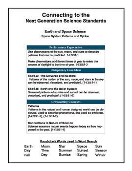 Word Search NGSS SpaceSystems