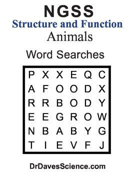 Word Search NGSS Animals