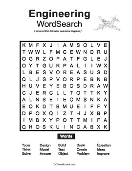 Word Search NGSS Engineering