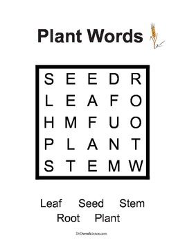 Word Search NGSS Plants
