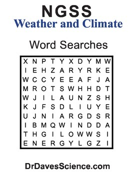 Word Search NGSS Weather