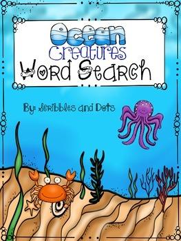 Word Search -- Ocean