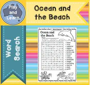 Word Search - Ocean and the Beach