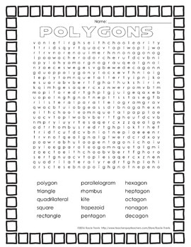 Word Search POLYGONS