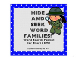 Word Search Packet for Short i CVC Words - Set 3