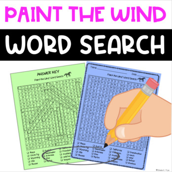 FREE Word Search - Paint the Wind - Fun Bell Ringer or Early Finisher Activity!