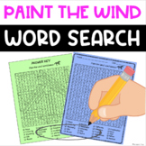 FREE Word Search - Paint the Wind - Fun Bell Ringer or Ear