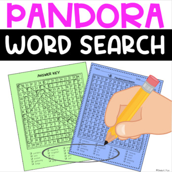 Word Search - Pandora by Victoria Turnbull -Bell Ringer/Early Finisher Activity