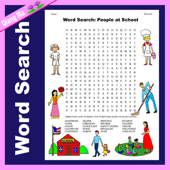 Word Search: People at School