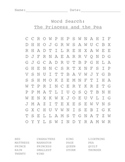Word Search - Princess and the Pea