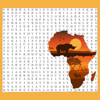Word Search Puzzles Africa