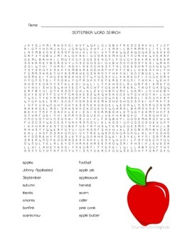 Word Search Puzzles - Fall and Winter