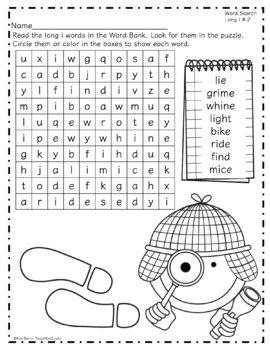 Word Search Puzzles - Long i