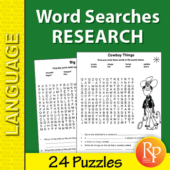 Word Search Puzzles: Research & Critical Thinking