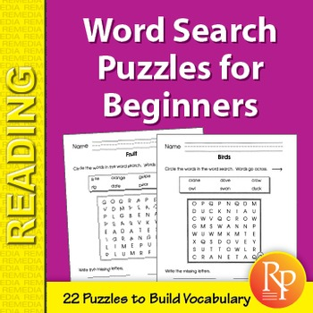 Word Search Puzzles for Beginners