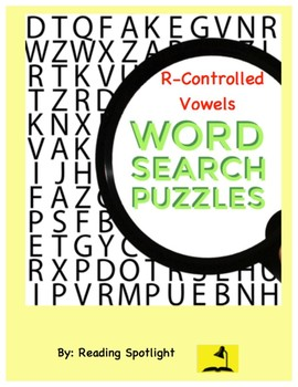 Word Search: R-Controlled Vowels