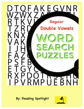 Word Search: Regular Double (Long) Vowels