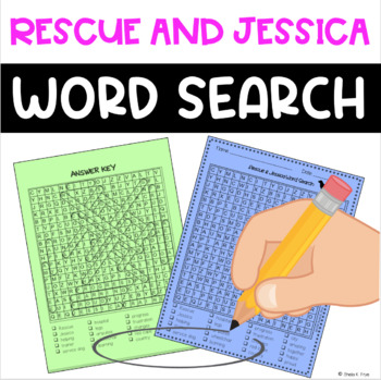 Word Search - Rescue & Jessica - Fun Bell Ringer/Early Finisher Activity!