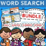 Word Search Season Themed Activity Bundle - Fall, Winter,