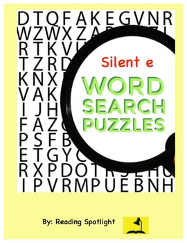 Word Search: Silent e Words
