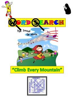"Word Search: Song Lyrics: ""Climb Every Mountain"""