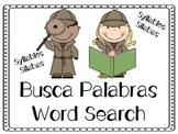 Word Search in Spanish  - Writing Center - Syllables Center