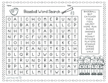 Word Search - Spring