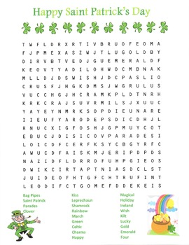 Word Search- St. Patrick's Day