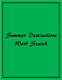 End of the Year Activities: Summer Destinations Word Search