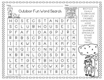 Word Search - Summer Theme