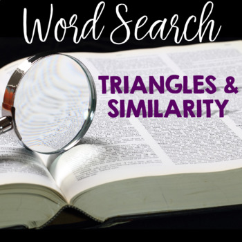 Word Search TRIANGLES and SIMILARITY