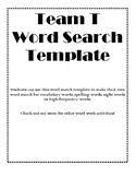 Word Search Template