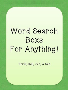 Word Search Template Freebie