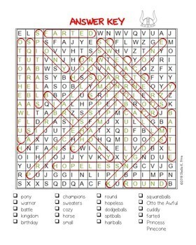 Word Search - The Princess and the Pony - Fun Bell Ringer/Early Finisher!