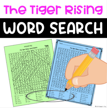 Word Search - The Tiger Rising - Fun Bell Ringer/ Early Finisher Activity!