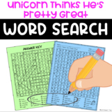 Unicorn Thinks He's Pretty Great Word Search