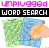 Unplugged by Steve Antony Word Search