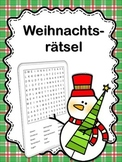 German Christmas Word Search  Weihnachten