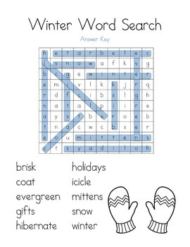 Word Search: Winter