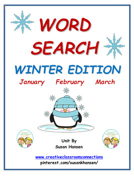 Word Search:  Winter Edition
