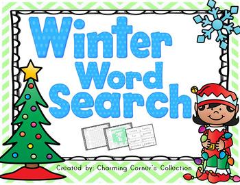 Word Search ~ Winter Theme