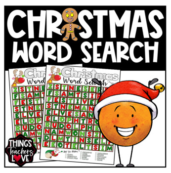 Christmas Word Search/Word Find/Word Hunt/Word Games